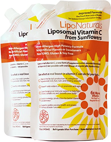 Lipo Naturals Liposomal Vitamin C (2-Pack) | 60 Doses (30 ounces) | China-Free | No Artificial Preservatives | No Soy | Non-GMO | Made in U.S.A | Maximum Encapsulated Vitamin C for Real Results