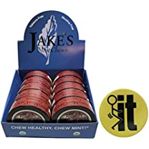Jake's Mint Chew Cinnamon POUCH - 10 Cans - Includes DC Skin Can Cover (FIT Skin)