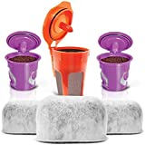 2 Reusable KCups, 1 Reusable Carafe KCup and 3 Replacement Charcoal Water Filters By Housewares Solutions for Keurig 2.0 Brewing Systems