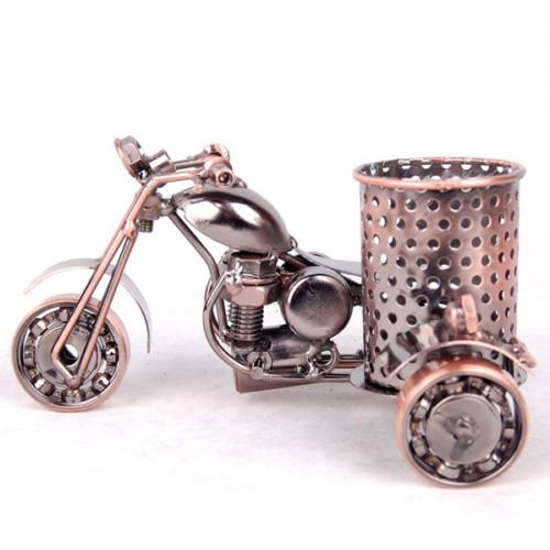 XENO-Motorcycle Model Pen Pencil Storage Holder Desk Desktop Organizer Office Metal