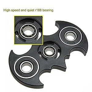 Yomaxer Fidget Spinner Bat Shape Hand Spinner R188 Main Bearing Cool EDC Focus Toy at Gotham City Store