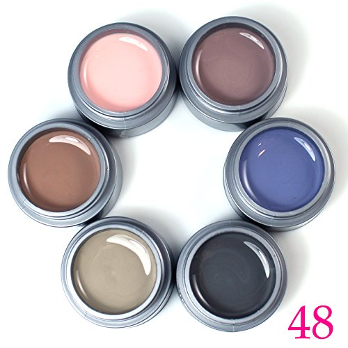 New Perfect Summer Pure Color UV Gel 6pcs/lot 6 colors Nail Art Kits - Day Priority 2 Delivery Time Mail