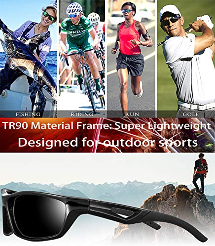 ATTCL Men's Sports Polarized Sunglasses Sports Glasses for Men Cycling Driving Golf