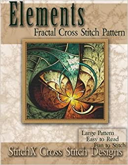Book Elements Fractal Cross Stitch Pattern by Tracy Warrington (2014-03-16)