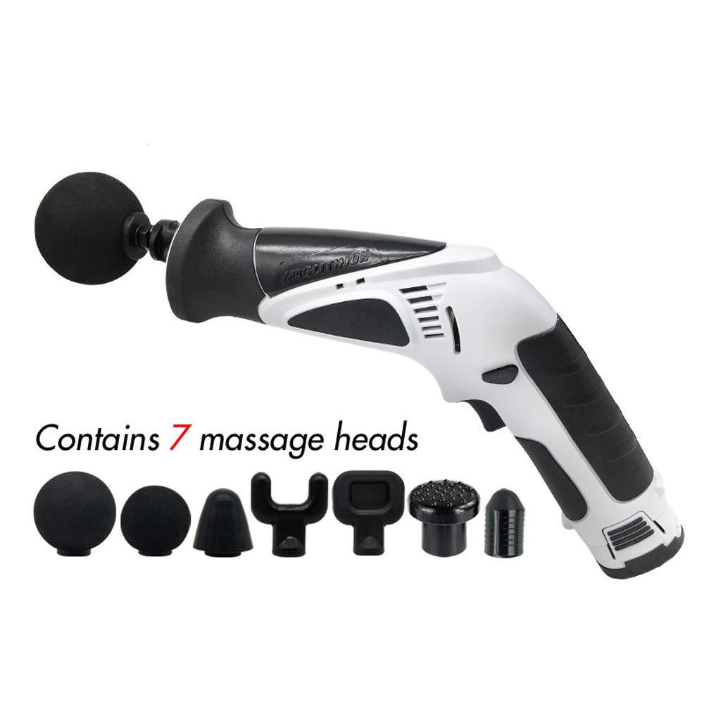 深い筋肉のための電気マッサージャー銃はリラックスします、7 in1電子療法ボディマッサージャー高周波振動バック、肩、腕、足、首、全身の痛みの軽減 B07SQQRFS3