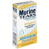 Murine Tears Lubricant Eye Drops for Dry Eyes, Original, 0.5 oz (15 ml) (Pack of 2)