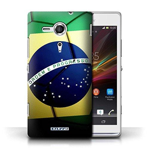 Kobalt® Imprimé Etui / Coque pour Sony Xperia SP/C5303 / Brésil/Brésilien conception / Série Nations de Football