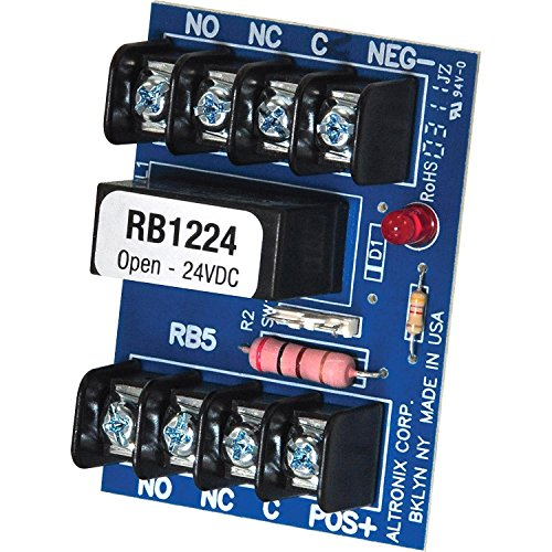 Altronix Accessory - Altronix Relay module (12vdc or 24vdc, 5amp/115vac/28v dc dpdt contact) RB1224 (2 Pack)