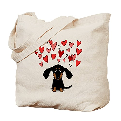 CafePress Dachshund Natural Canvas Shopping