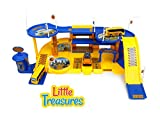 Best Little Treasures 3 Year Old Boy Gifts - Construction station headquarters includes 3 floors, ramps transport Review