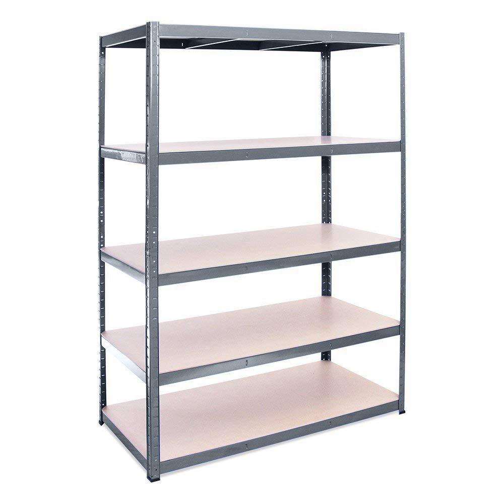 Estanterí a metá lica de almacenamiento industrial resistente con 5 estantes- Pack individual - ideal para almacé n, garaje, trastero, só tano - 180cm x 120cm x 60cm sótano - 180cm x 120cm x 60cm Rhino Racking