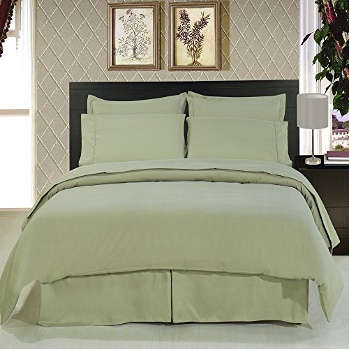 Royal Hotel's Solid Sage 300-Thread-Count 4pc Queen Bed S...