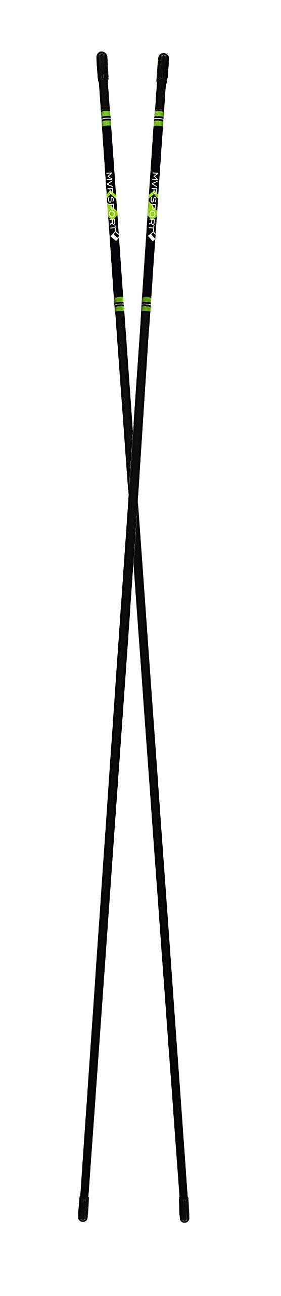 MVP Sport Golf Alignment Rods (MorodZ) Training Aid 2-Pack (Blue) by MVP Sport