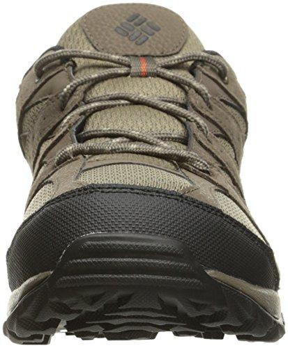 Columbia Mens Plain Butte Hiking Hiking Shoes Pebble / Sanguine