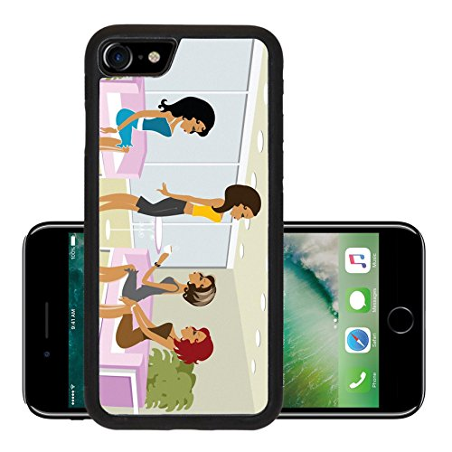 Luxlady Premium Apple iPhone 7 Aluminum Backplate Bumper Snap Case iPhone7 IMAGE ID 2106355 Mss Boo having fun with her friends