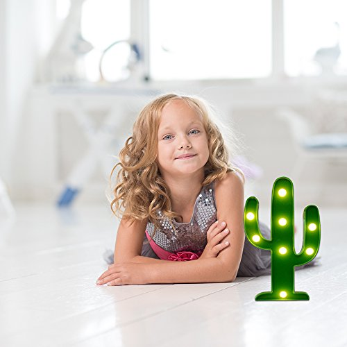 LED Night Light LED Cactus Light Table Lamp YiaMia Light for Kids' Room Bedroom Gift Party Home Decorations Green