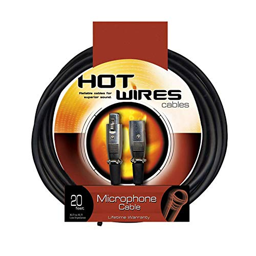 On-Stage Hot Wires Economy XLR Microphone Cable, 20 Feet