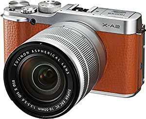 Fujifilm X-A2/XC16-50mmF3.5-5.6 II Brown Mirrorless Digital Camera with Lens Kit