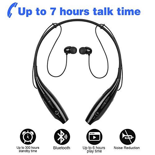 (Wireless Running Sports Bluetooth Headphones Headset Stereo Earphone (black))