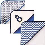 Luvable Friends 3 Piece Hooded Towels, Penguin