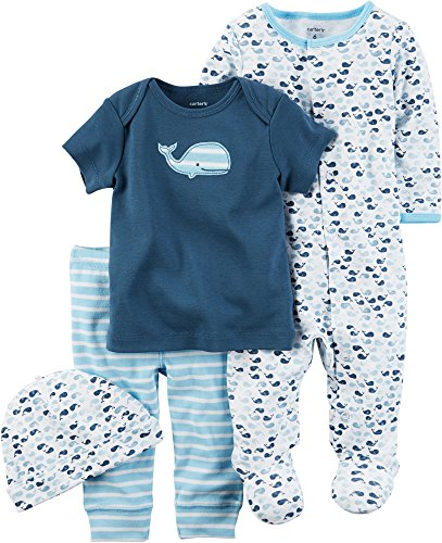 Carter's Boys' Multi-Pc Sets 126g585, Blue, Newborn Baby