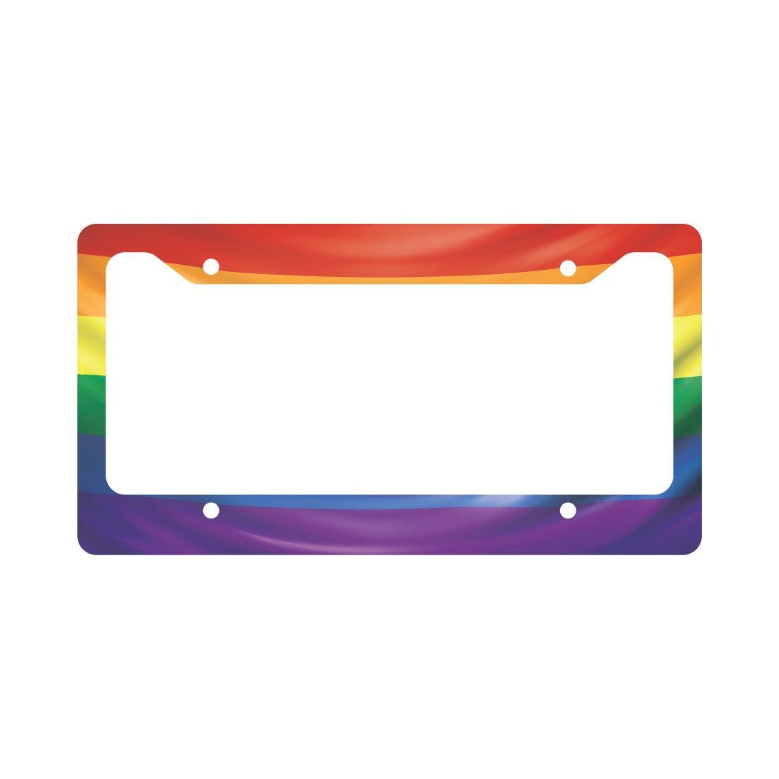 Gay Pride Flagge Nummernschild Rahmen: Amazon.de: Küche & Haushalt