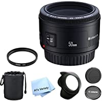Canon EF 50mm f/1.8 II Premium Lens Bundle- International Model