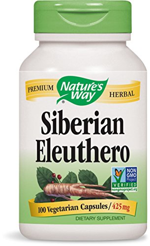 Nature's Way Siberian Eleuthero, 425mg Capsules, 100-Count
