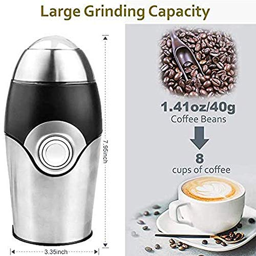 Electric Coffee Grinder one touch blade