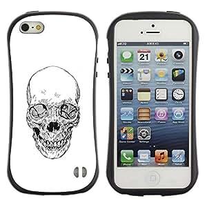 Be-Star Impreso Colorido Diseño Antichoque Caso Del Iface Primera Clase Tpu Carcasa Funda Case Cubierta Par Apple iPhone 5 / iPhone 5S ( skull white black death metal tattoo )