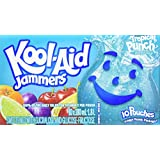Kool-Aid Jammers Tropical Punch, 180ML Pouch, 40 Count (4 Boxes of 10 Pouches)
