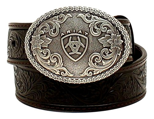 Ariat Kid's 1/4'' Floral Embossed Belt, Black, 30 (Ariat Embossed Belt)