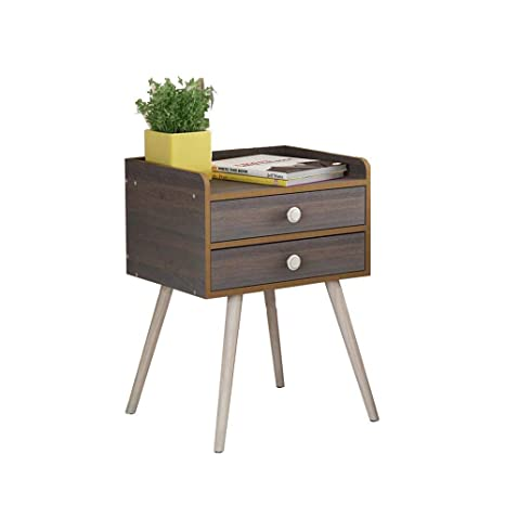 Amazon.com: Mesita de noche, taquilla de madera para mesa ...
