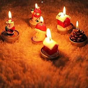 Amazon.com: Dreamvan - Velas de Navidad delicadas, 3 ...