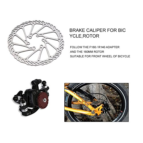 BB7 MTB Bike Brakes Disc Caliper Mechanical Front Wheel+160mm Rotor New by CLKJYF