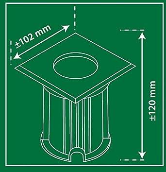 Capacit/é de charge de 800/kg Raccord GU10 Spot de sol Smartwares 5000.459 Luton