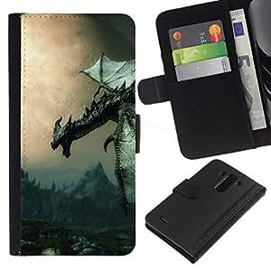 All Phone Most Case / Oferta Especial Cáscara Funda de cuero Monedero Cubierta de proteccion Caso / Wallet Case for LG G3 // Ancient Flying Dragon