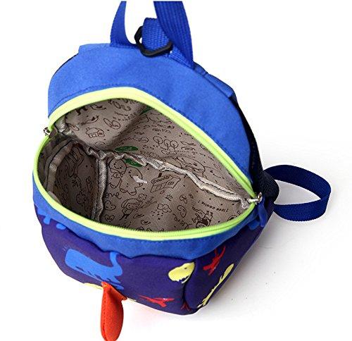 Bleu anti harnais dessin sécurité enfant nouveau de à petite animé mignon Sac avec bébé Scolaire dos Sac d'école de Loisirs à dos sac perdue la de d'éducation enfance de wIFTqf