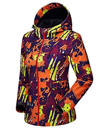 Chic Giubotto Maniche Lunghe Cute Jacket Invernali Elegante Mieuid Zip Incappucciato Funzionale Outdoor 2 Sportivo Libero Giacca Orange Coulisse Colorati Cappuccio Tempo Donna Con v45xawS