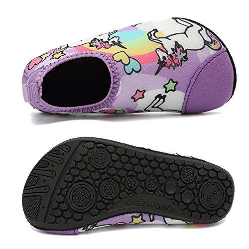 HooyFeel Cute Kids Toddler Sneakers Lightweight Slip on Swim Water Shoes Aqua Barefoot Socks for Baba Boys and Girls by HooyFeel (Image #3)