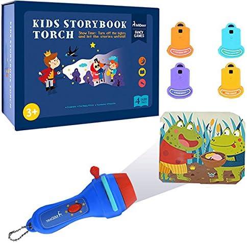MITOY Proyector Linterna para niños Libro de cuentos Antorcha ...