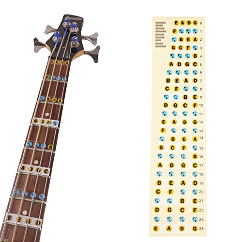 4 string bass fretboard fret notes stickers neck key maker notes in dubai uae whizz bass. Black Bedroom Furniture Sets. Home Design Ideas