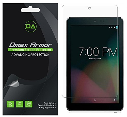 [3-Pack] Sprint Slate 8 inch (AQT80) Screen Protector, Dmax Armor Anti-Bubble High Definition Clear Shield - Lifetime Replacements Warranty- Retail Packaging - 8 In Tablet Screen Protector