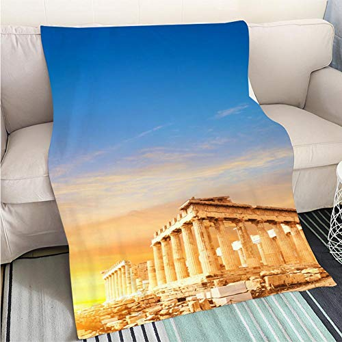 Home Digital Printing Thicken Blanket Parthenon Temple The Acropolis in Athens Greece Perfect for Couch Sofa or Bed Cool Quilt