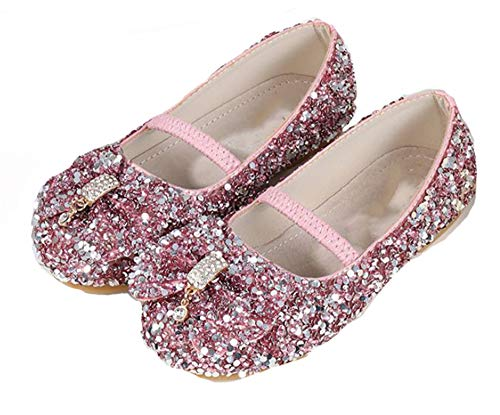 Fancyww Girl's Cute Princess Shoes Sequins Show Ballet Shoes(Toddler/Little Kid)(Pink-26/9 M US Toddler) ()
