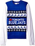 KLEW MLB Toronto Blue Jays One Too Many Ugly Sweater, X-Large, Blue