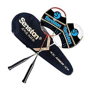 Senston Carbon Badminton Set,Badmintonschläger .Inklusive 2 Schläger und...
