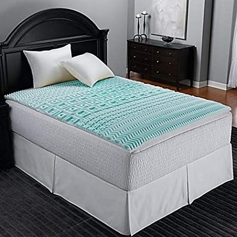 Amazon Com Sleep Zone 5 Zone Foam Twin Twin Xl Mattress Topper In