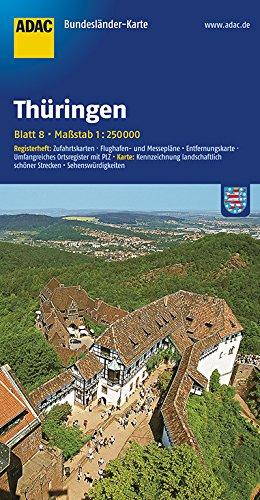 ADAC Bundesländerkarte Thüringen 1:250.000 (ADAC BundesländerKarten Deutschland)