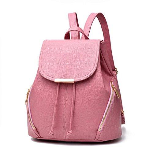 à Sac Générique 29cm Pink Noir Main Dos 28 à Mode Couleur Sac Femmes bandoulière Occasionnel étudiant Simple à Sac Dos Taille Sac Sac Femme à 16 wBawZn